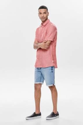 Рубашка мужская ONLY & SONS 22013260 розовая M