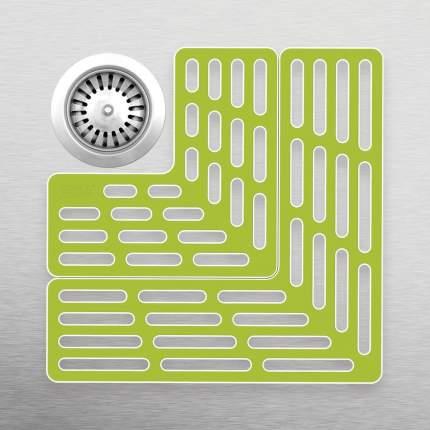 Подложка для раковины универсальная SinkSaver™ серая-белая