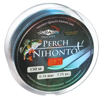 Леска монофильная Mikado Nihonto Perch 0,24 мм, 150 м, 7,75 кг