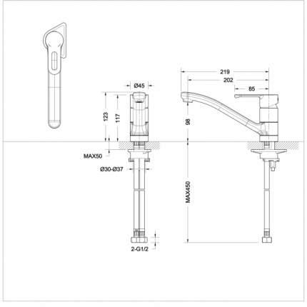 Смеситель для кухонной мойки BRAVAT F737163C-1
