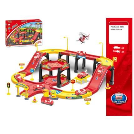 Игровой набор Fire Truck - Станция c машинками и вертолетом