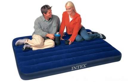 Intex, 64758, Надувной матрас Classic Downy Airbed Fiber-Tech, 137х191х25см