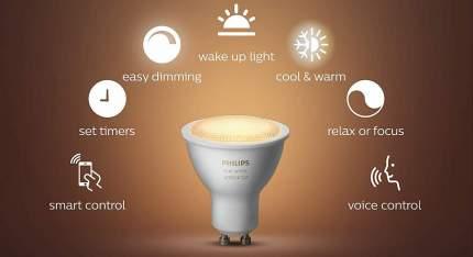Комплект умных ламп Philips Hue White GU10 2 шт (White)