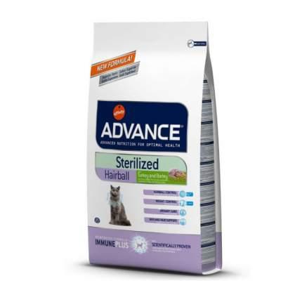 Сухой корм для кошек Advance Sterilized Hairball, для выведения шерсти, индейка, 1,5кг