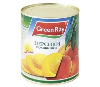 Персики Green Ray половинки в сиропе 850 мл
