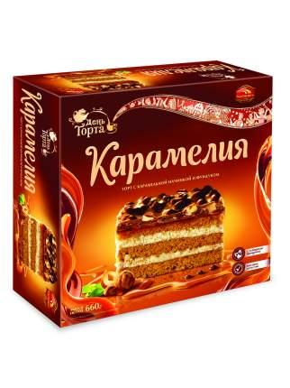 Торт карамелия Черемушки с карамельной начинкой и фундуком 660 г