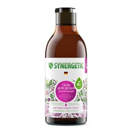 Биоразлагаемый натуральный гель для душа Synergetic Цветущий инжир и лотос, 380 мл