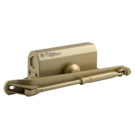 Доводчик дверной НОРА-М 3S-F бол. морозостойкий с фиксацией (от 50 до 80 кг) - Золото