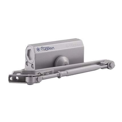 Доводчик дверной НОРА-М 2S-F морозостойкий с фиксацией (от 25 до 50 кг) - Серый