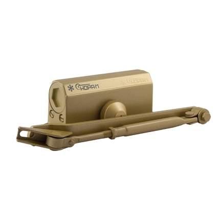 Доводчик дверной НОРА-М 2S-F морозостойкий с фиксацией (от 25 до 50 кг) - Золото
