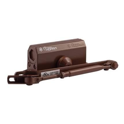 Доводчик дверной НОРА-М 2S-F морозостойкий с фиксацией (от 25 до 50 кг) - Коричневый