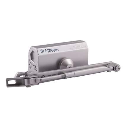 Доводчик дверной НОРА-М 2S-F морозостойкий с фиксацией (от 25 до 50 кг) - Серебро