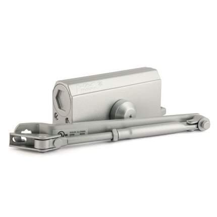 Доводчик дверной НОРА-М 3S-F бол. морозостойкий с фиксацией (от 50 до 80 кг) - Серебро