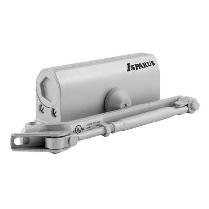 Доводчик дверной НОРА-М Isparus 430 морозостойкий (от 50 до 110 кг) - Серебро