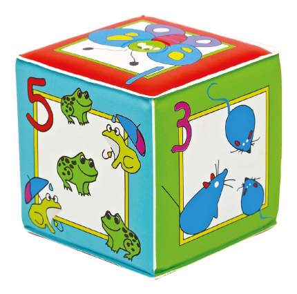 """Игрушка кубик с пищалкой Курносики """"Учимся считать"""""""
