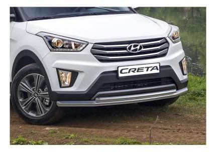 Защита переднего бампера d57+d42 Rival для Hyundai Creta I 2016-2021; R.2310.002