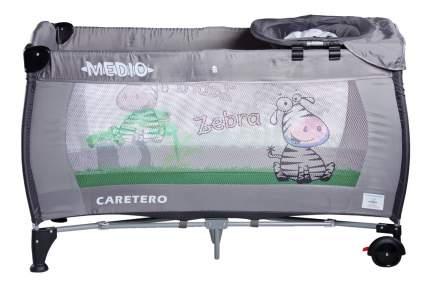 Манеж-кровать Caretero Medio classic grey