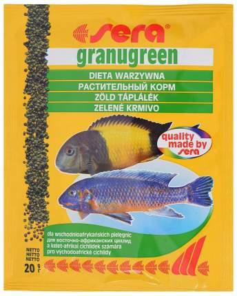 Корм для рыб Sera Granugreen, гранулы, 20 г