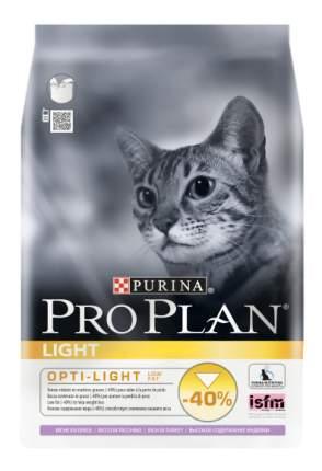 Сухой корм для кошек PRO PLAN Light с избыточным весом, индейка, 1,5кг