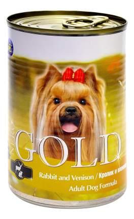 Консервы для собак NERO GOLD Adult Dog Formula, кролик, оленина, 12шт, 1250г