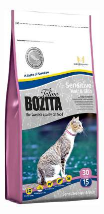 Сухой корм для кошек BOZITA Function Sensitive Hair & Skin, рыба, 10кг