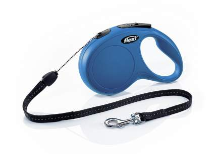 Поводок-рулетка flexi New Classic S ,до 12 кг, трос 8 м, синяя