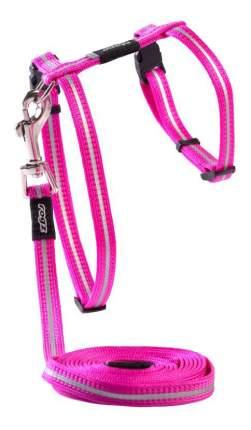 Комплект поводок и шлейка для кошек Rogz AlleyCat XS-8мм 1,8 м (Розовый CLJ216K)