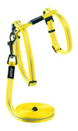 Комплект поводок и шлейка для кошек Rogz AlleyCat XS-8мм 1,8 м (Желтый CLJ216H)