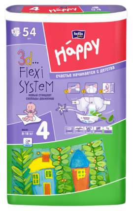 Подгузники Bella Baby Happy Maxi 4 (8-18 кг), 54 шт.