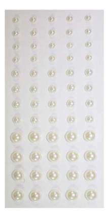 Набор для создания украшений Кустарь Полужемчужины клеевые 3-6 мм кремовый 60 штук