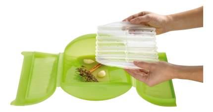 Конверт для запекания силиконовый 3-4 порции с вставкой(цвет:салатовый)