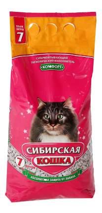 Впитывающий наполнитель для кошек Сибирская кошка Комфорт глиняный, 4.2 кг, 7 л