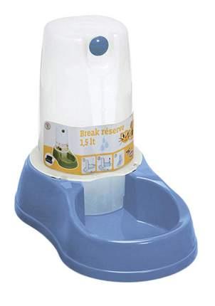 Кормушка-автопоилка для кошек и собак Stefanplast, голубой, 1.5 л