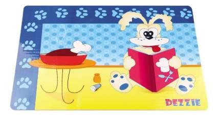 DEZZIE Коврик под миску Собака с книгой для кошек, 43х28 см