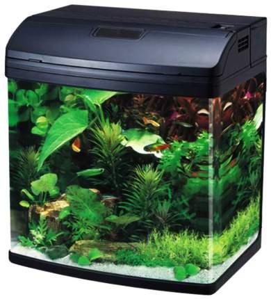Аквариум для рыб Jebo R 338, влагозащитная поверхность, с изогнутым стеклом, черный, 35 л