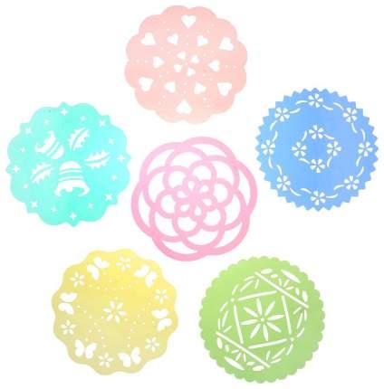 Набор трафаретов Tescoma 630676 Желтый, зеленый, красный, синий, розовый, бирюзовый