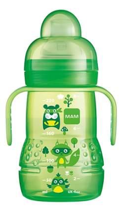 Детская бутылочка MAM Trainer 220 мл (c 4 мес) зеленая