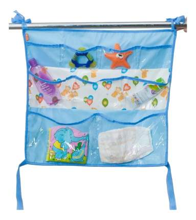 Текстильный карман в детскую кроватку Чудо-Чадо Капитошка голубой