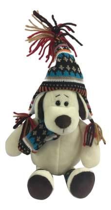 Мягкая игрушка Teddy Собака в шапке, 18 см