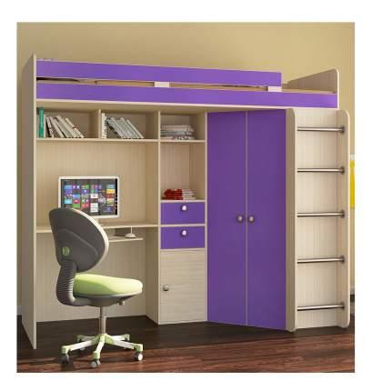 Кровать РВ-Мебель Астра дуб молочный/фиолетовый