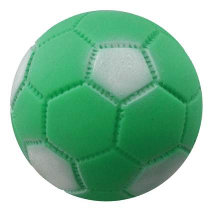 Апорт для собак Зооник Мяч футбольный из винила, зеленый, белый, 7,2 см
