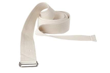 Ремень для йоги RamaYoga Де Люкс усиленный, белый