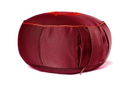 Подушка для йоги RamaYoga Ом, красный