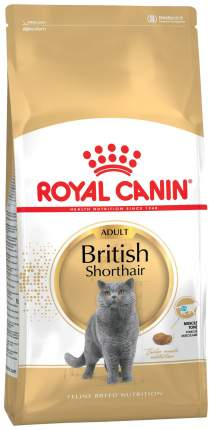 Сухой корм для кошек ROYAL CANIN British Shorthair, британская, домашняя птица, 10кг