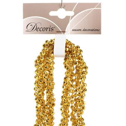 Kaemingk Бусы пластиковые Алмазная Россыпь 270 см насыщенно золотые 001602