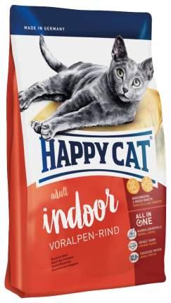 Сухой корм для кошек Happy Cat Adult Indoor, для домашних, альпийская говядина, 0,3кг