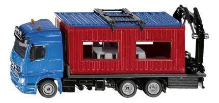 Коллекционная модель Siku Mercedes Benz Arocs со строительным контейнером