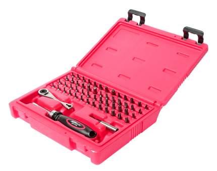 Набор бит c мини-трещоткой и отверткой с храповым механизмом JTC JTC-5610 55 предметов