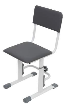 Детский стул для школьника регулируемый Polini City / Polini Smart L, белый-серый