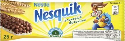 Батончик Nestle nesquik c цельными злаками шоколадный 25 г